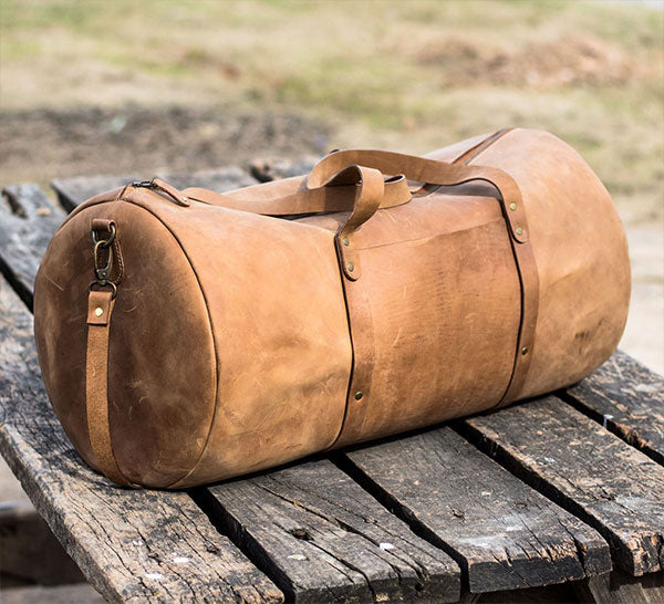 Weekend Leather Travel Sports Duffle