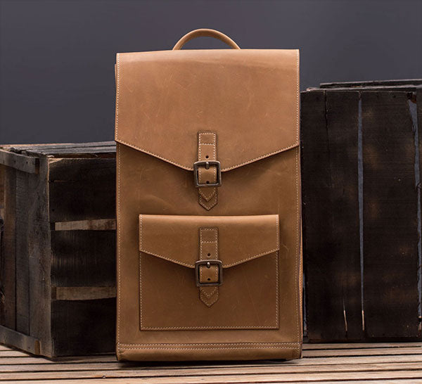 Large Leather Backpack for Men