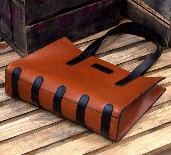 Carry On Brown Leather Messenger Bag
