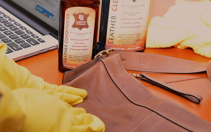Leather handbag cleaner and conditioner