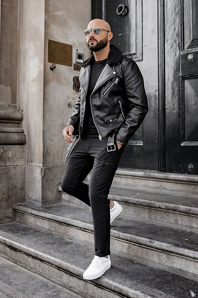 What to Wear with Black Leather Jacket