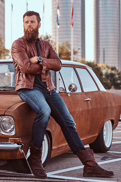 What to Wear with Brown Leather Jacket