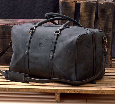 Wide Mouth Leather Duffle Bag