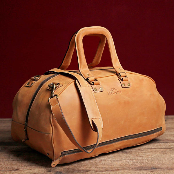 Hunza Tan Leather Duffel Bag