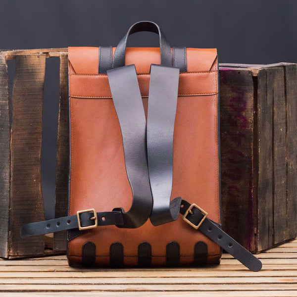 Banjosa Everyday Vintage Leather Backpack