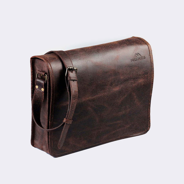 Chogolisa Dark Brown Leather Messenger