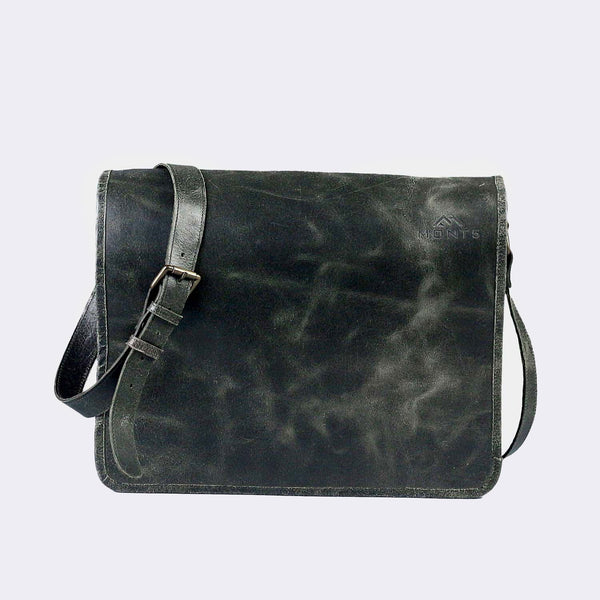 Chogolisa Olive Green Leather Briefcase