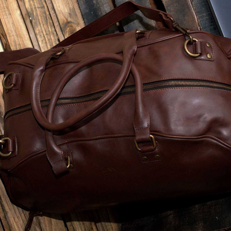 Hunza Small Leather Travel Bag