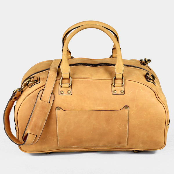 Hunza Tan Small Duffle Bag