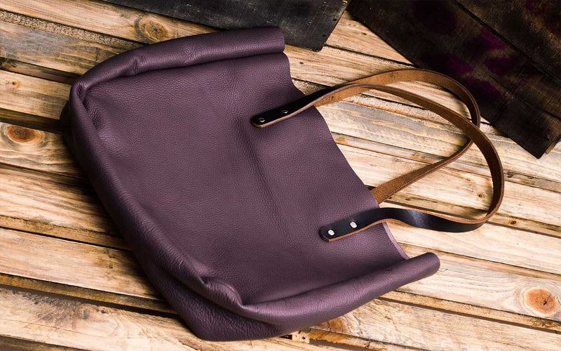 Kel Everyday Purple Leather Purse