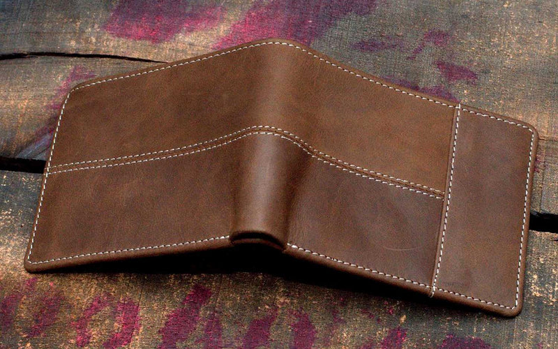 Noshaq Brown Personalized Leather Wallet