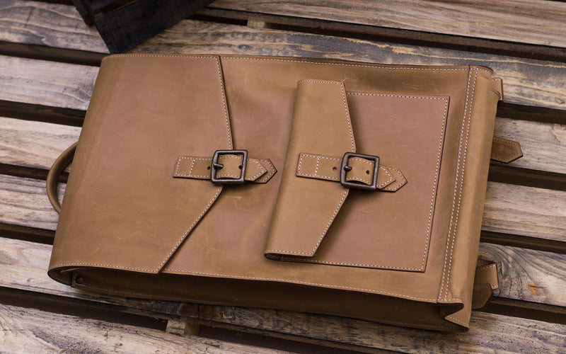 Spantik Vintage Leather Book Bag