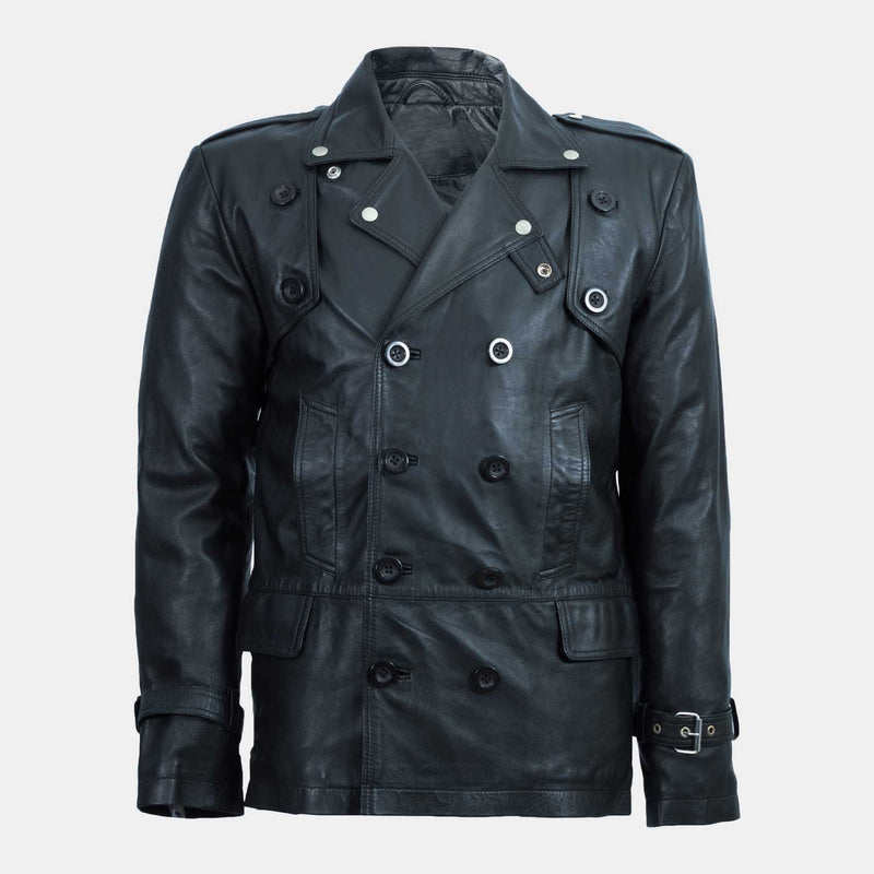 Trango Black Leather Sports Coat