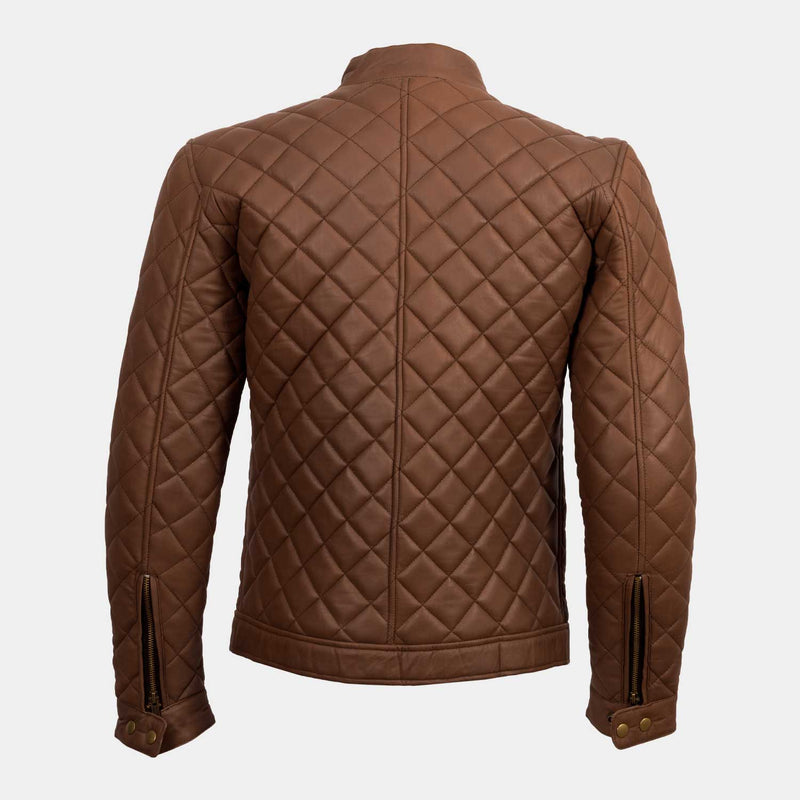 Trivor Premium Tan Leather Jacket
