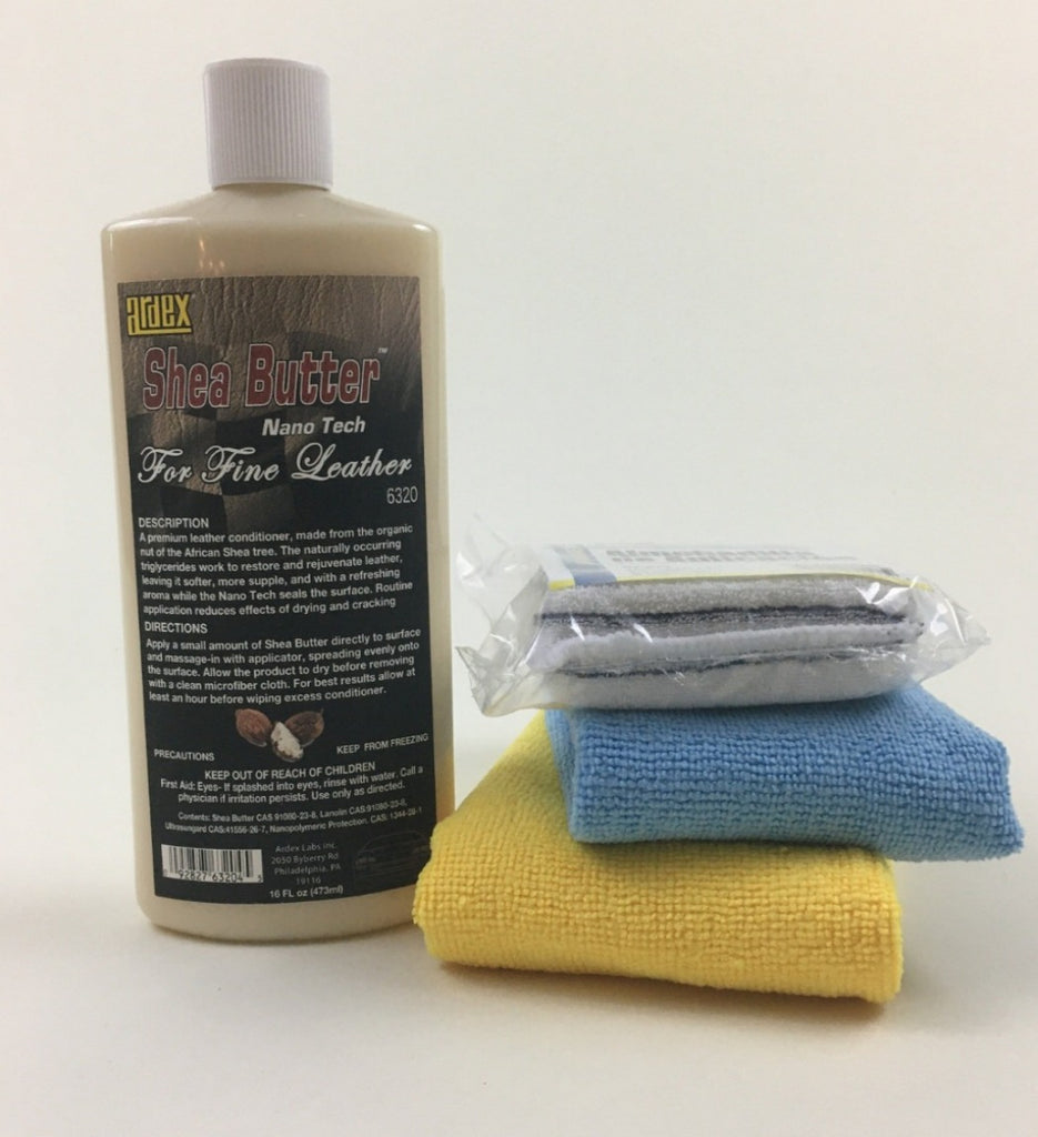 Leather Conditioner for fine leather from Ardex. Shea Butter Leather Conditioner