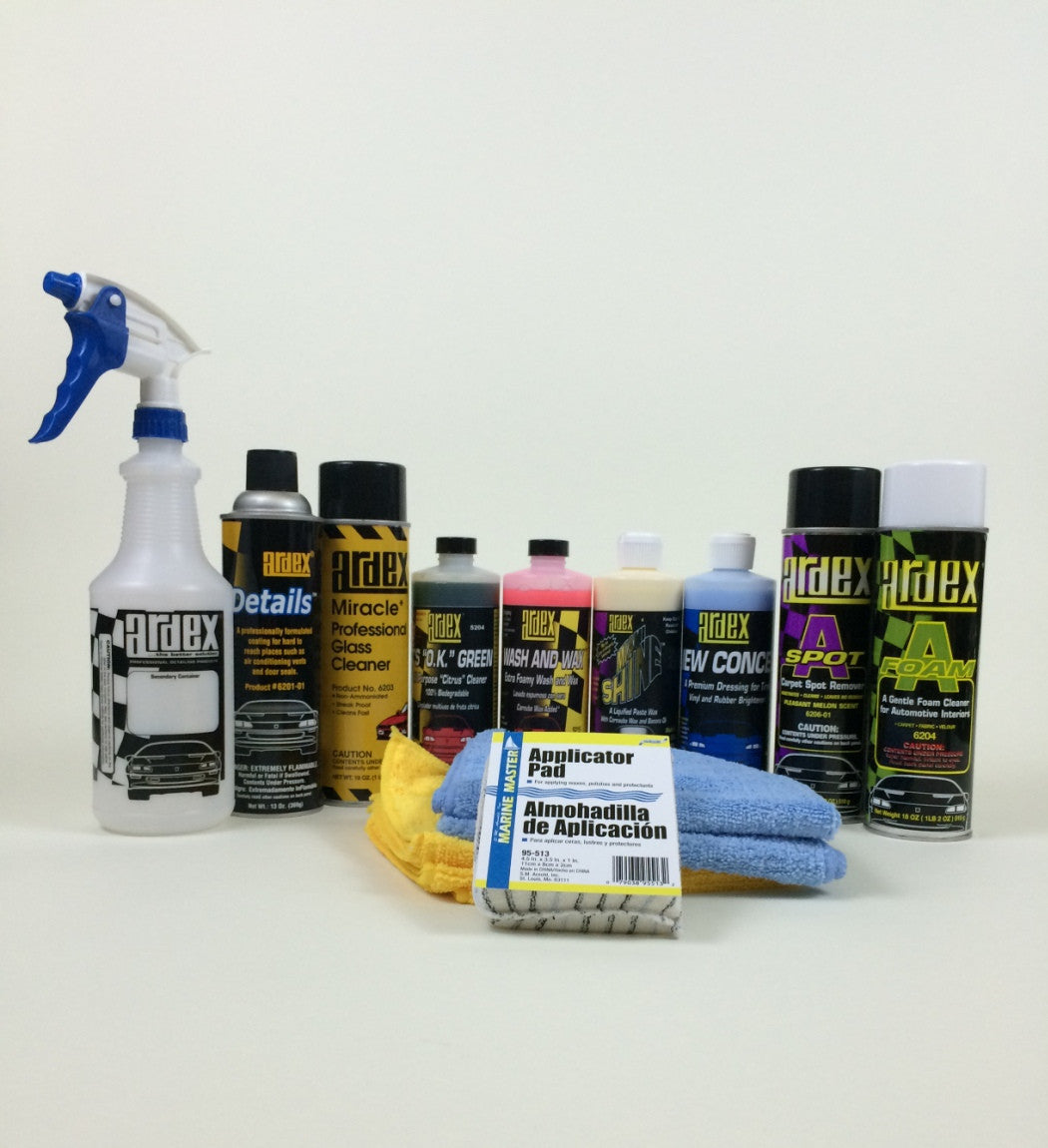 car detailing kit 16 oz with fabric velour carpet cleaner u0026 spot remover