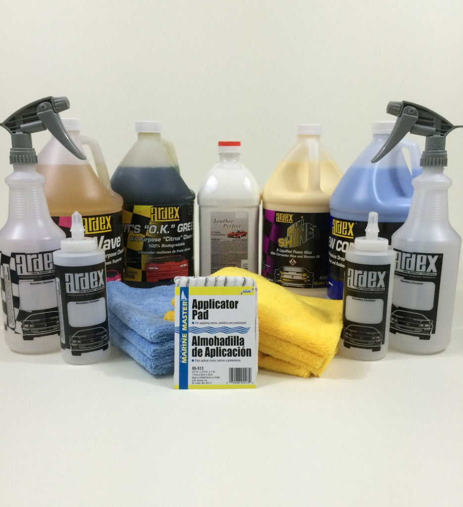 Car Detailing Pro Kit - with Leather Cleaner Conditioner - Ardex Auto Detailing