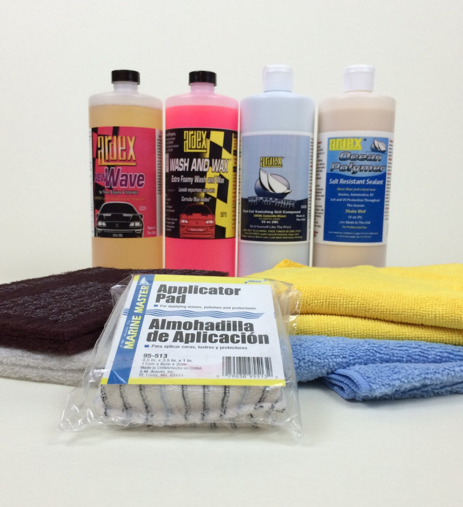 boat detailing kit-gelcoat shine restoration