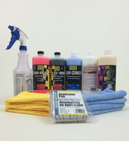 Car Detailing Kit 32 oz - with Leather Cleaner Conditioner - Ardex Auto Detailing