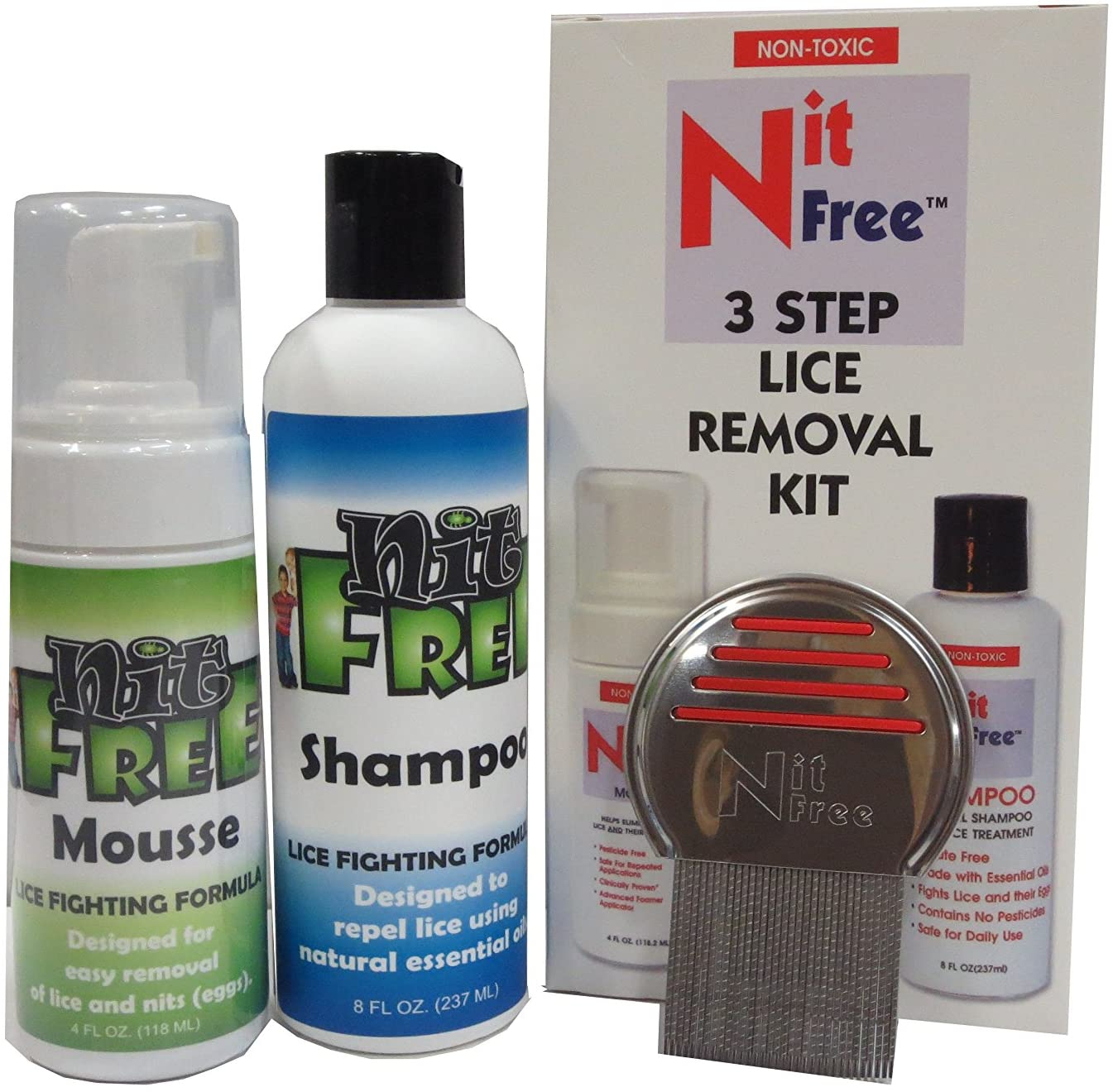 Nit Free 3 Step Lice Removal Kit with Shampoo