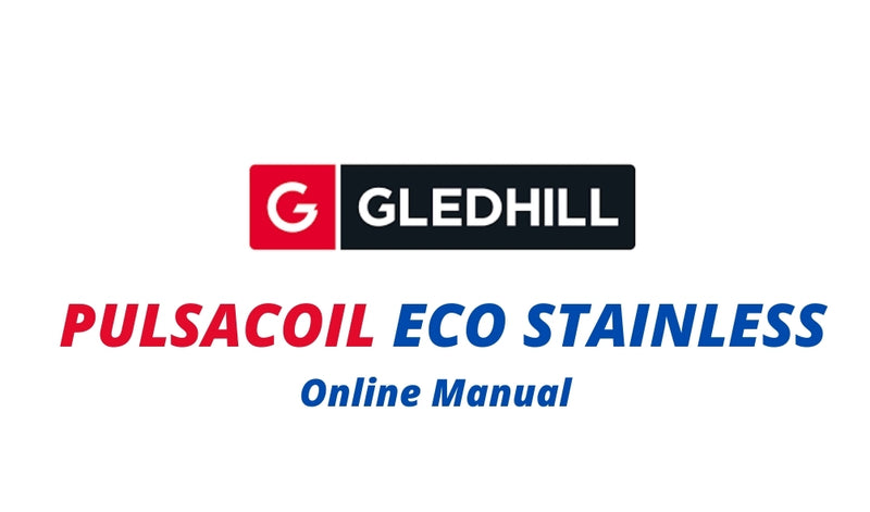 Gledhill Pulsacoil Eco Stainless Design Installation and Servicing Instructions