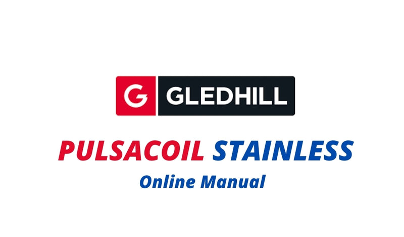 Gledhill Pulsacoil Stainless Design Installation and Servicing Instructions