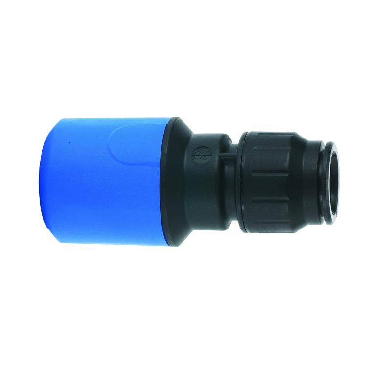JG Speedfit Blue MDPE Straight Connector 25mm x 22mm - UG602B
