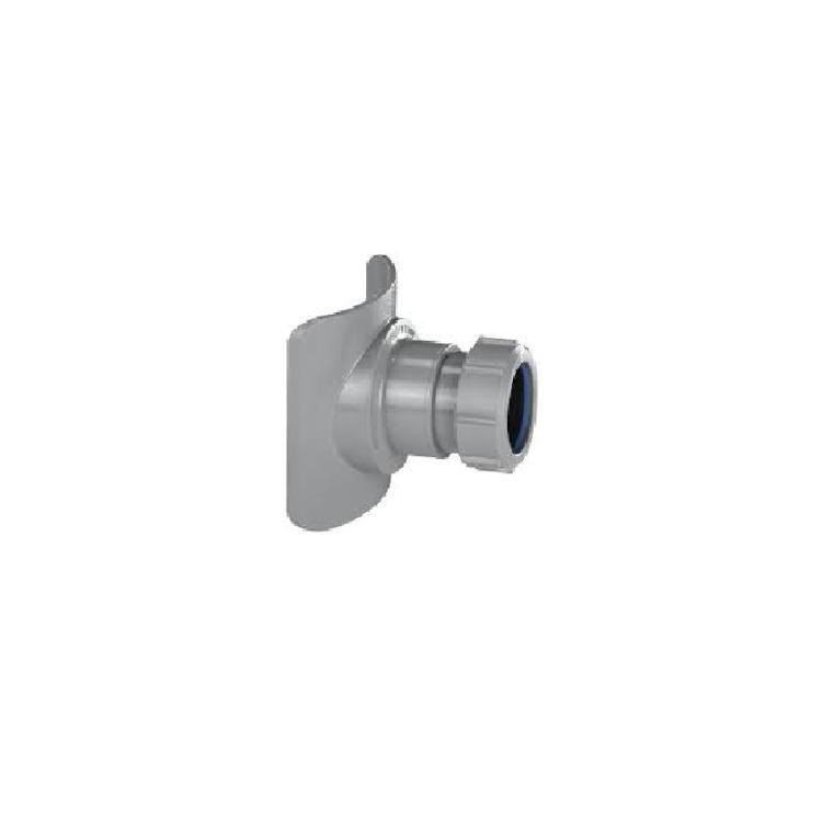 McAlpine Mechanical Pipe Soil Boss Connector Grey 4in x 1.5in