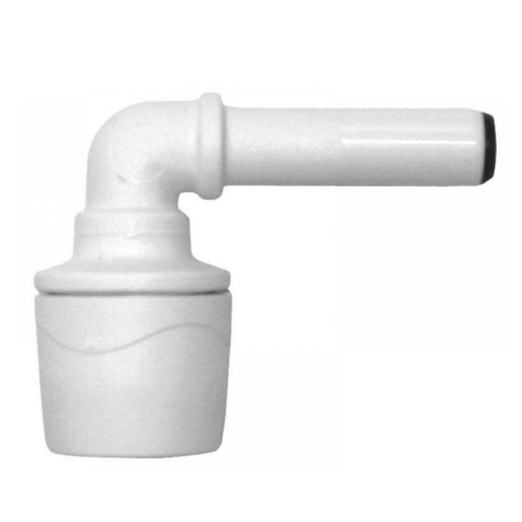 Polypipe PolyMax Spigot Elbow White 15mm - MAX1015