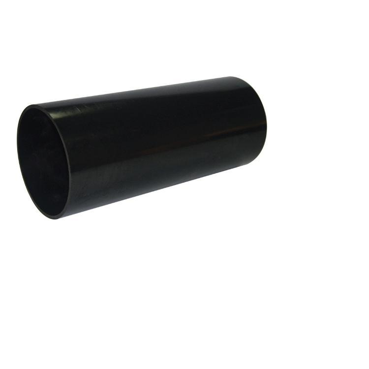 Floplast 110MM X 3M PVC-U Plain Ended Soil pipe Black (SP1B)