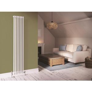 Stelrad Softline 2 Column Radiator Vertical K2 White - 2500 X 352 Mm