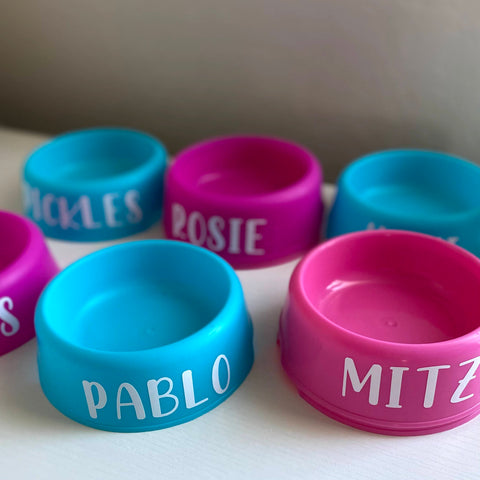 Customize mini water bowl for dog goodie bag
