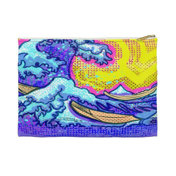 The Great Wave Accessory Pouch - Large / White - Bags
