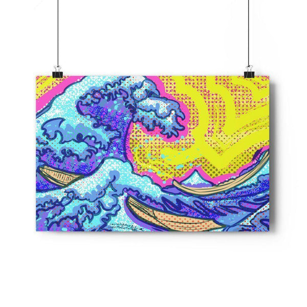 The Great Wave Giclée Art Print - 30 x 20 / Matt - Poster