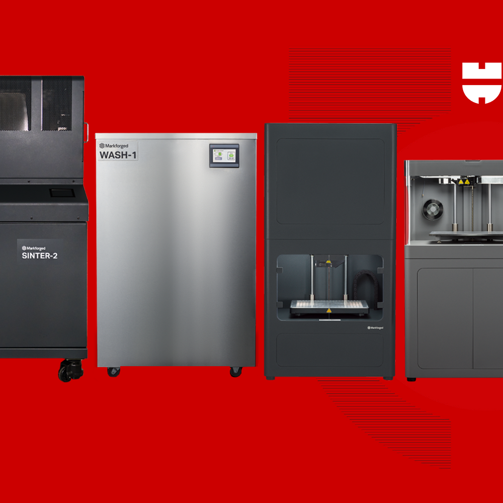 Markforged product lineup of 3D printers