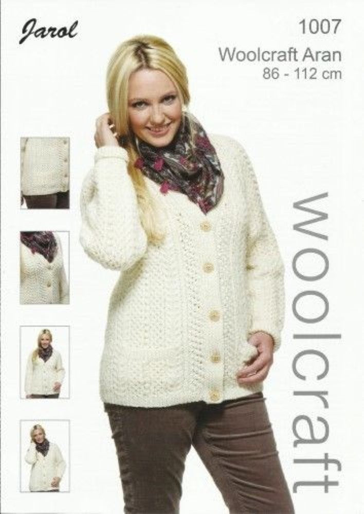 Adult Ladies Cardigan Knitting Pattern - 1007