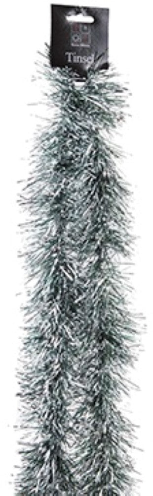 Snow Tipped Tinsel Garland - Silver