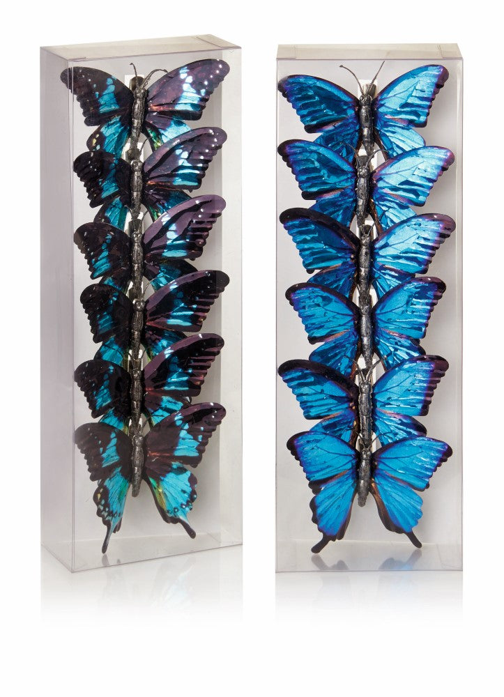 1 x Pack of Butterfly Clips - Blue