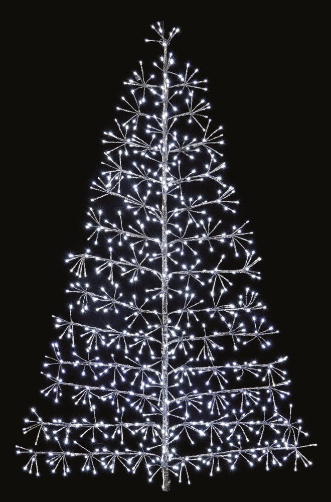 1.2m Starburst Cluster Christmas Tree - Silver