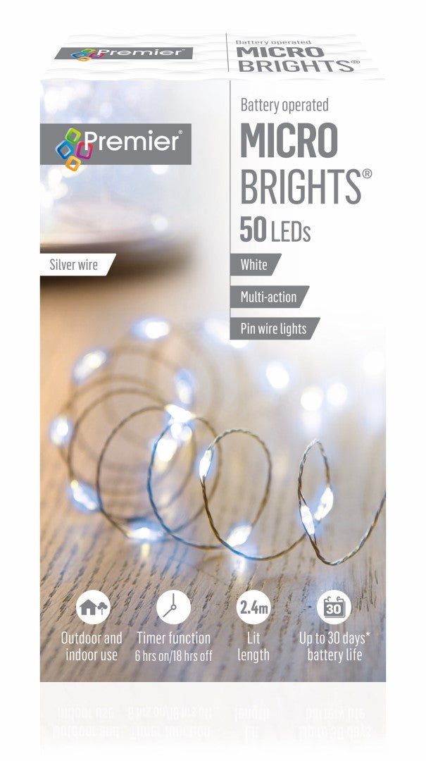 50 Microbright White Lights