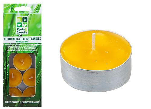 Pack of 10 Citronella Tealight Candles