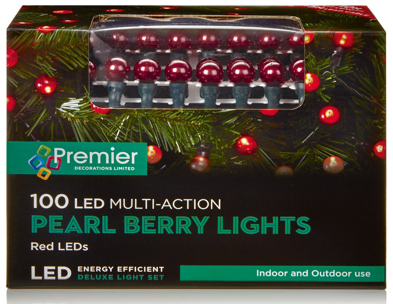 100 Red Pearl Lights