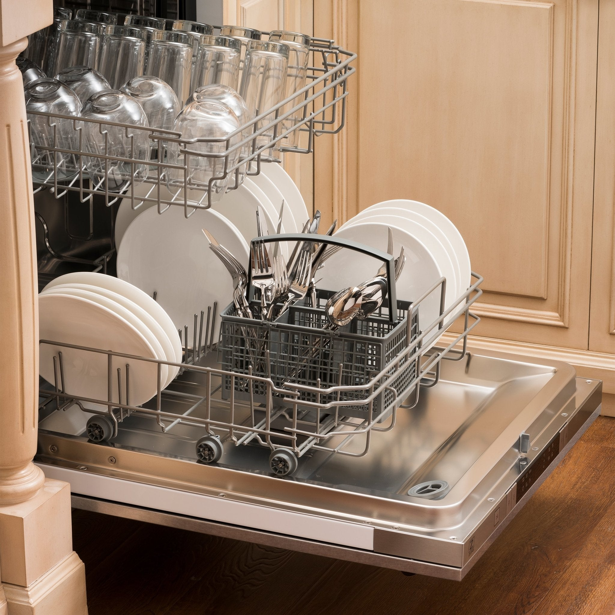 "ZLINE 24"" Top Control Dishwasher with Stainless Steel Tub and Modern Style Handle - Dishwashers - ZLINE Kitchen and Bath -"