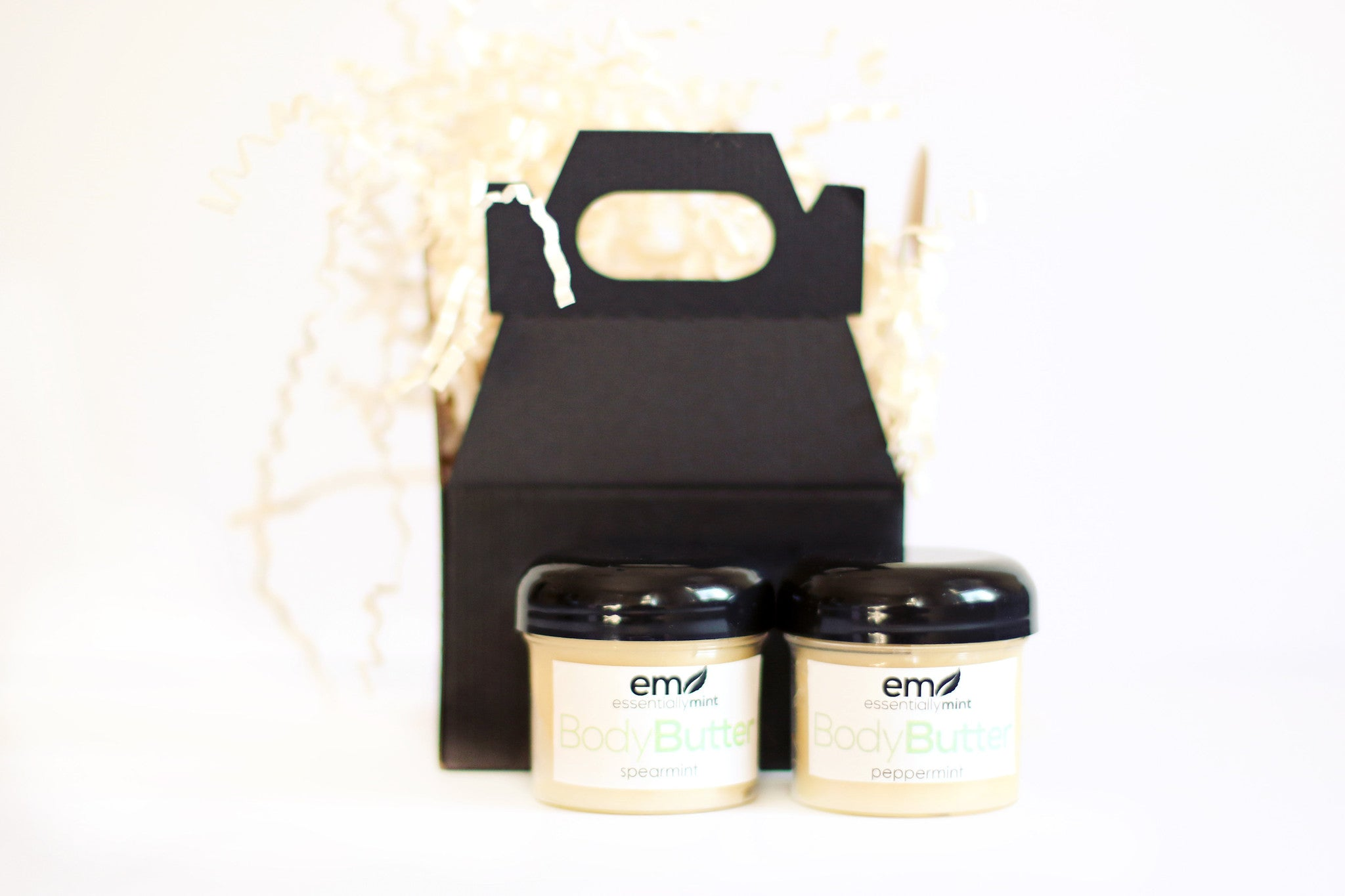 Mini Spa Gift Set With Body Butters Essentiallymint Spa Gift Boxes And Natural Skin Care