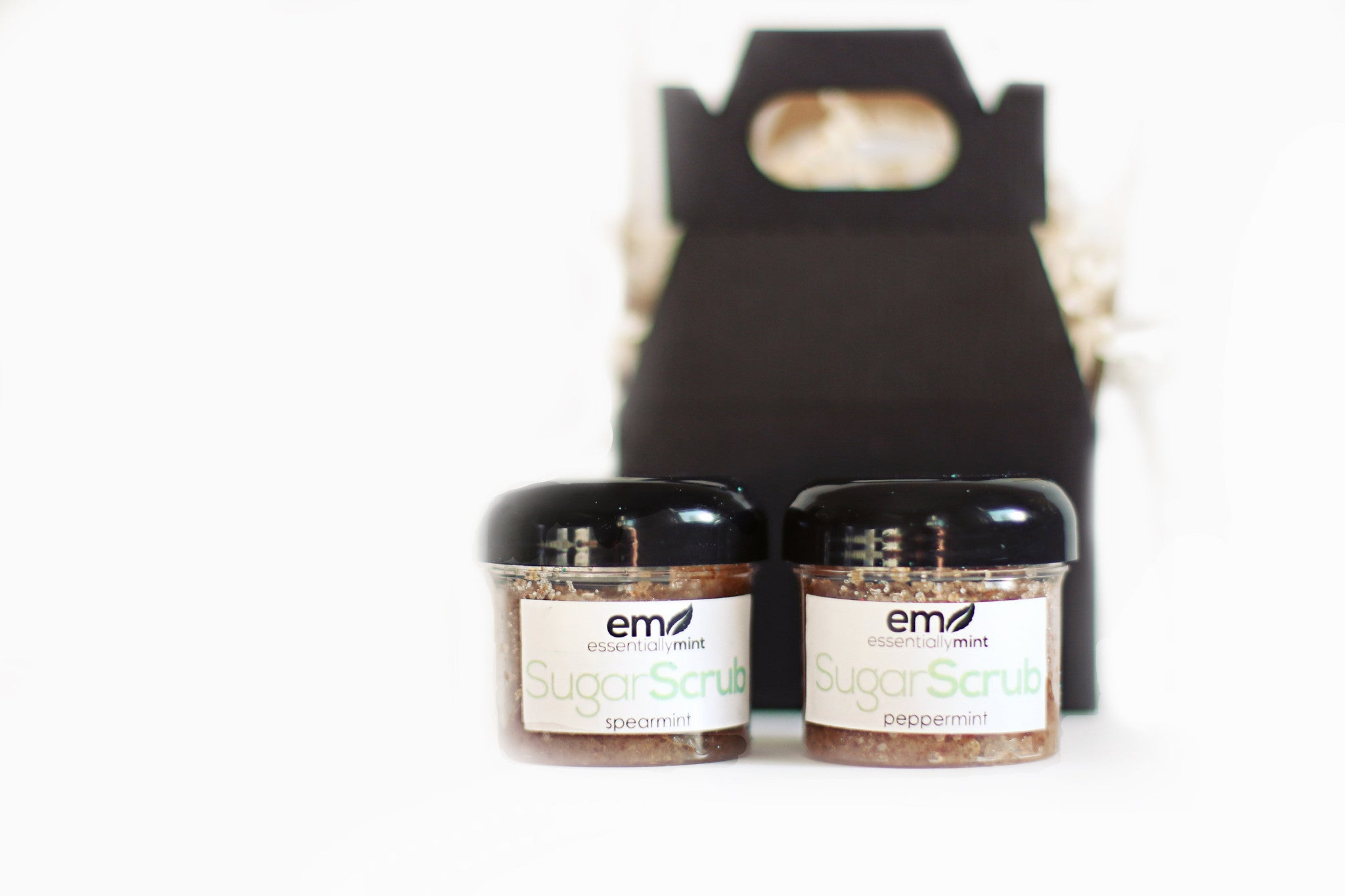 Mini Spa Gift Set With Sugar Scrubs Essentiallymint Spa Gift Boxes And Natural Skin Care