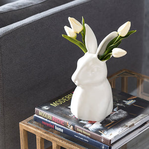 Ceramic Rabbit Vase