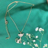 Cat Design Bright Shinny Necklace
