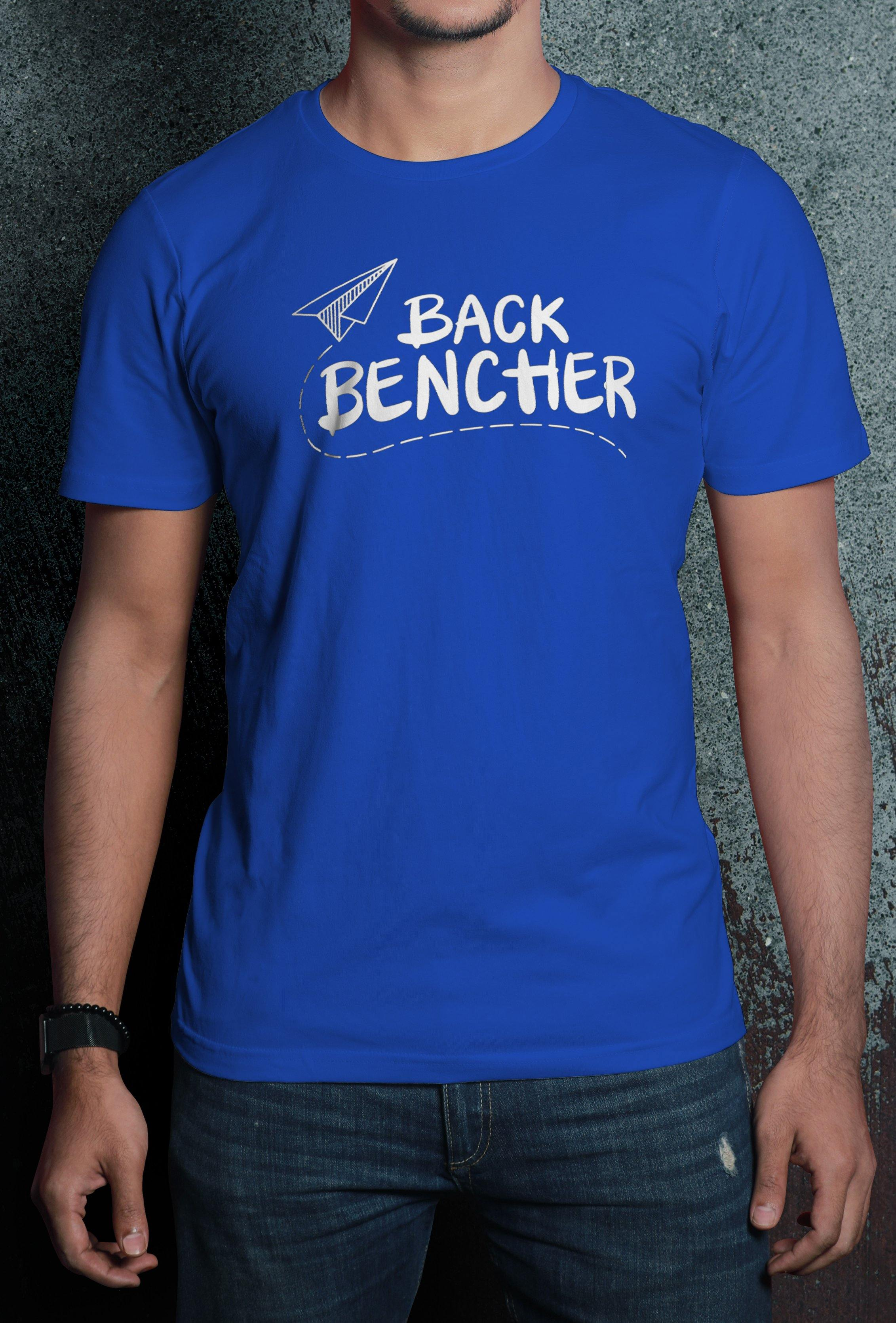 Back Bencher Print Half Sleeve Premium Quality Cotton T-Shirt - thewardrobe-store-in