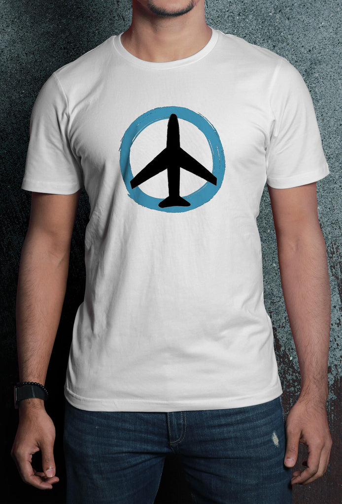 Plane Print Half Sleeve Premium Quality Cotton T-Shirt - thewardrobe-store-in
