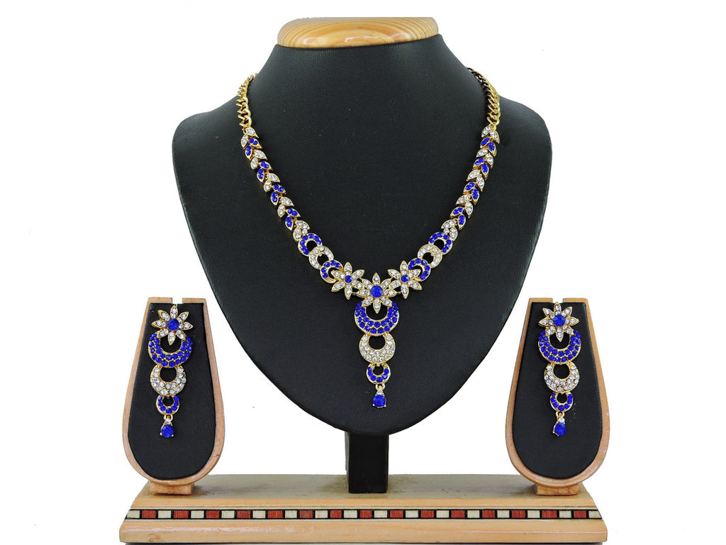 Generic Women's Alloy Necklace set (Blue)
